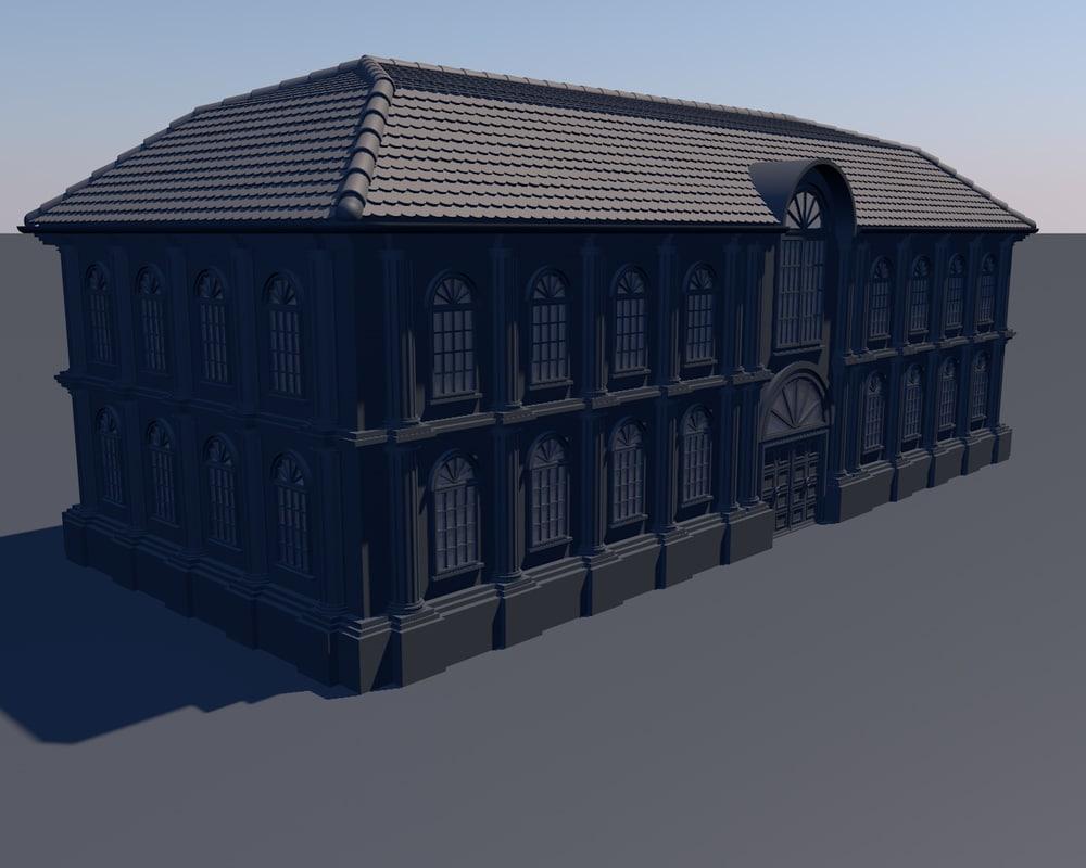 european classical castle obj