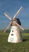 realistic windmill obj