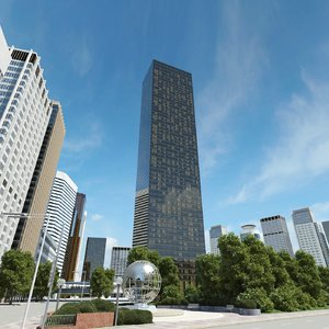 trump world tower 3d model