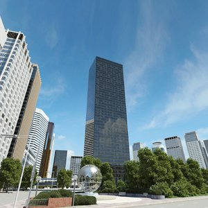 3d model trump world tower