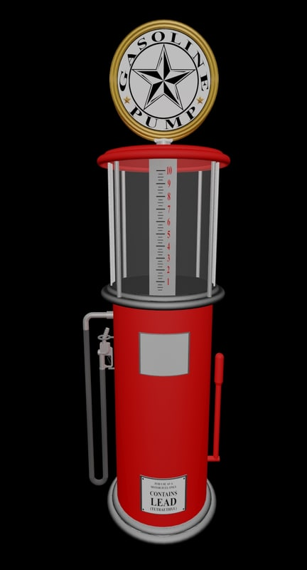vintage gas pump 3d max