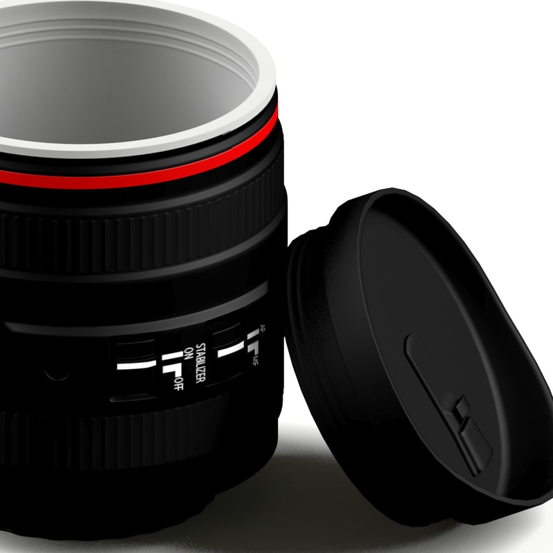 thermo zoom lens 3d model