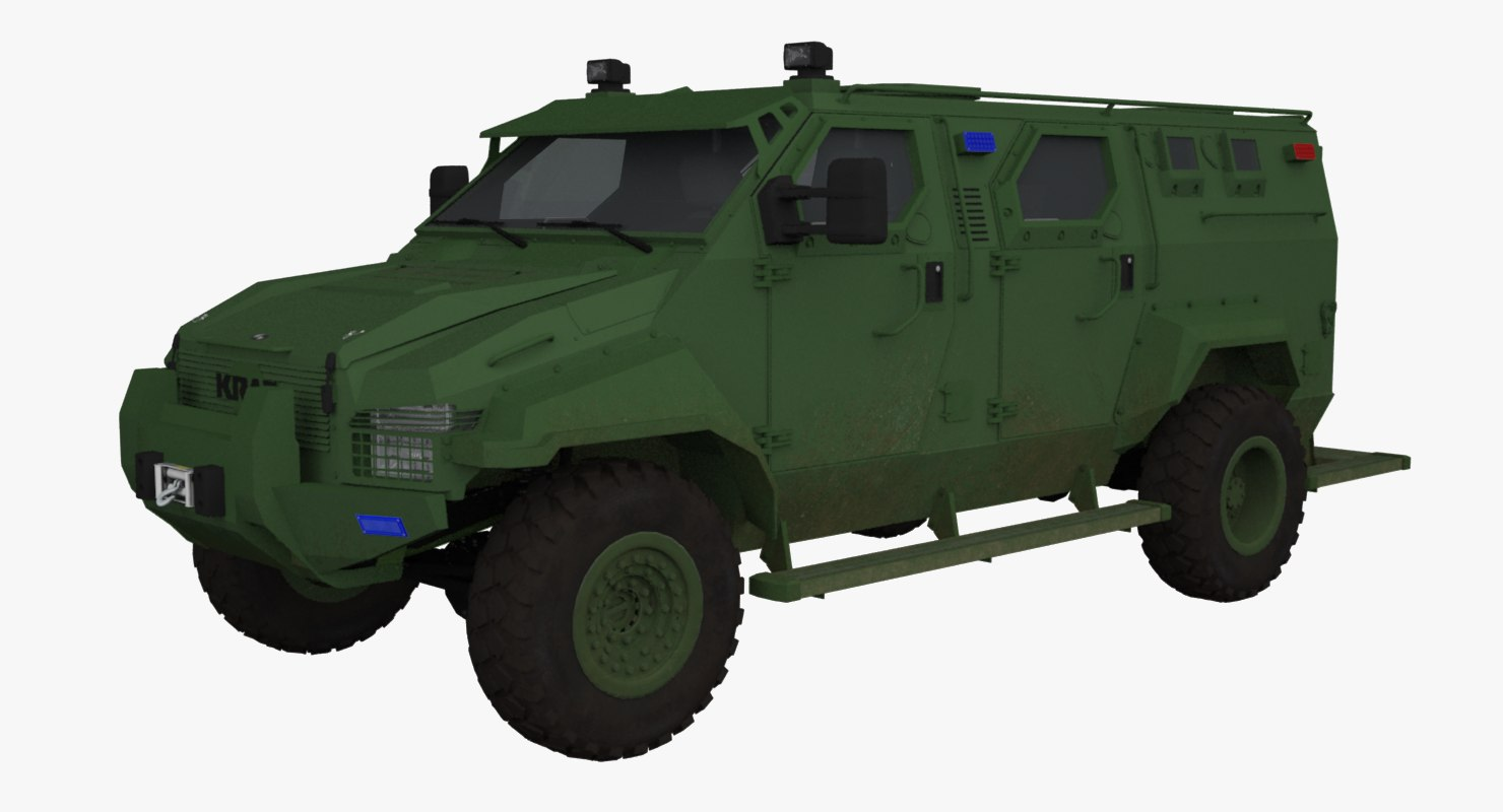 3d model military kraz spartan streit