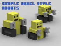 Simple voxel-style robots