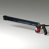 spear gun 3d model