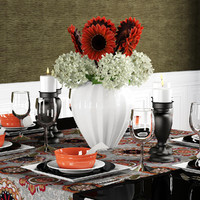 table bouquet hydrangea 3d max