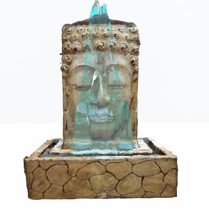 indian budha fountain water 3d max