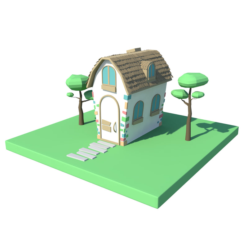 fbx simple cartoon house