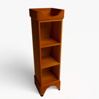 3d model of bookcase