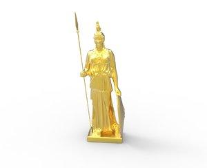 3d athena statue scan