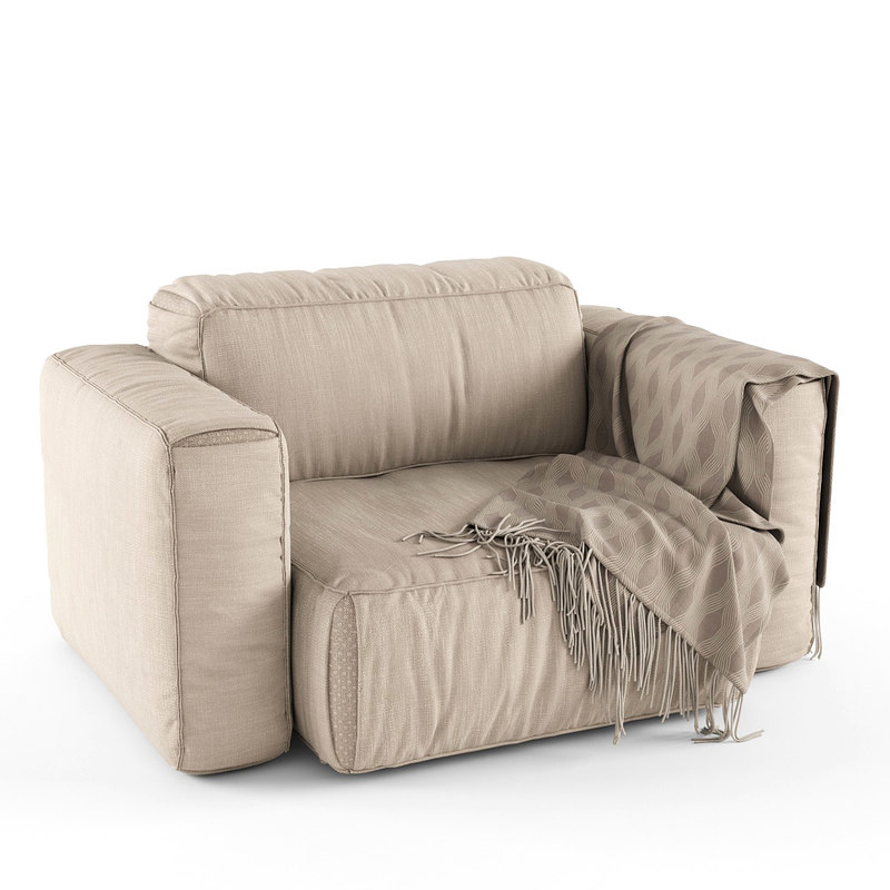 3d model chair soft