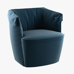 overpass padded armchair 3d 3ds