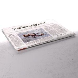 3d frankfurter allgemeine newspaper folds