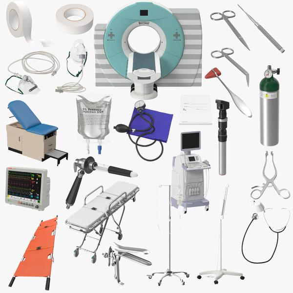 3d stretcher medical 02 ct model