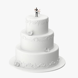 wedding cake miniatures 03 3d model