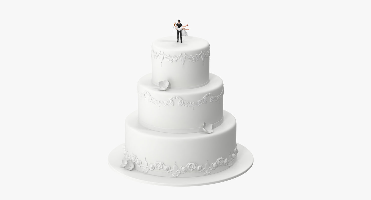 wedding cake miniatures 03 3d model
