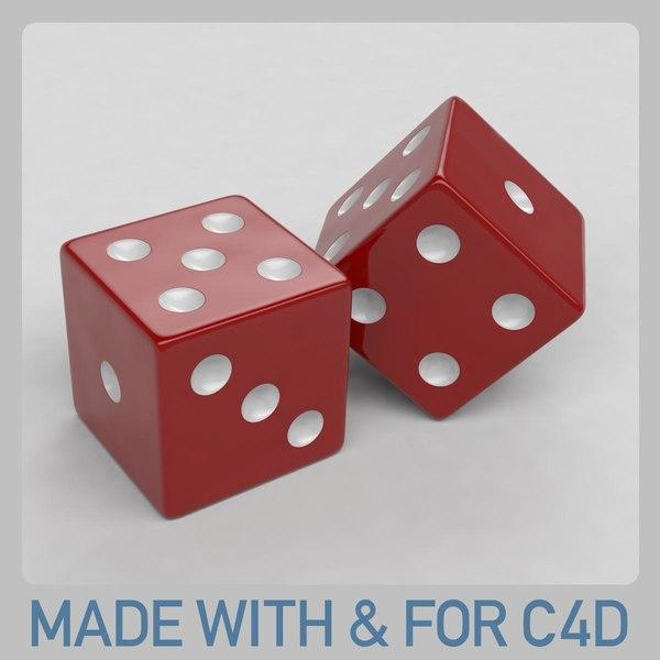 free c4d model dice