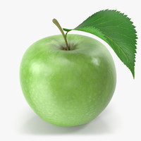 3d model apple green