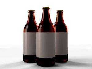 beer bottle cacula 3d max