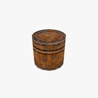 3d rusty tin