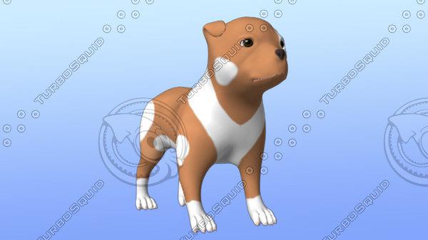 3d cute puppy model