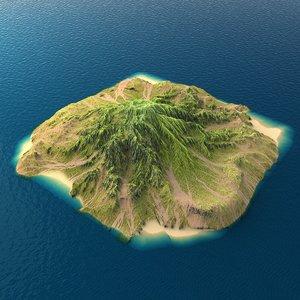3d tropical island terrain 7