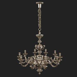 3d model chandelier light