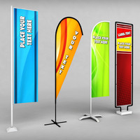 3d pack banner commercial flag