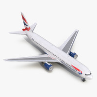 boeing 767-300 british airways 3d model