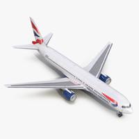 boeing 767-300 british airways 3d model