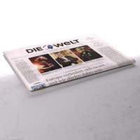 die welt newspaper folds 3d model