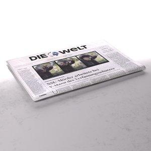 die welt newspaper folds 3d max