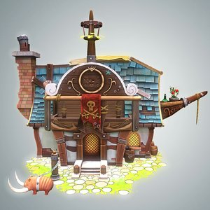 stylized pirate house max