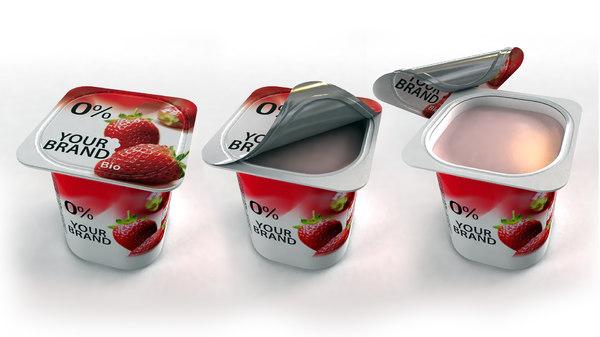 yogurt cup opening 3d max