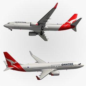 boeing qantas 3d model