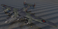 3d consolidated liberator mk-3 raf model
