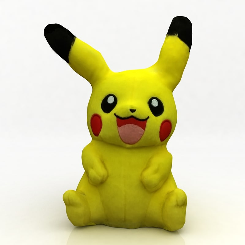 pokemon - pikachu 3d max
