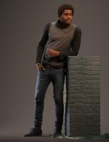 max posing man realistic male
