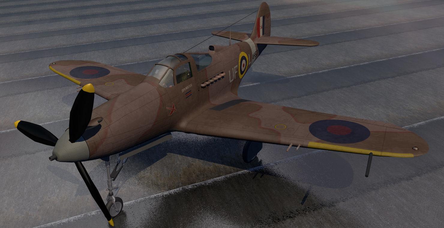 3d bell airacobra mk-1 raf model