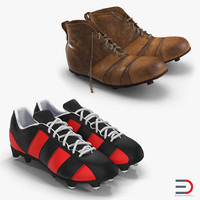 3d model football boots
