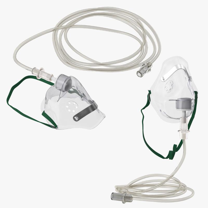3d model oxygen mask