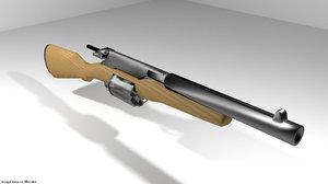 3ds gun revolver shortgun
