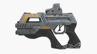 futuristic gun 3d max