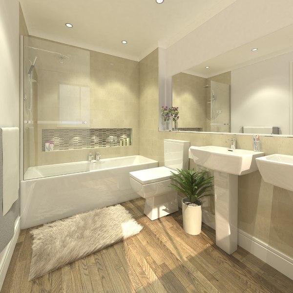 bathroom bath room 3d 3ds