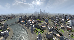 huge city building 3ds
