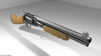 3d gun revolver shortgun model