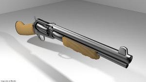 3d gun revolver shortgun model