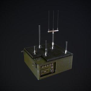 military jammer 3d model