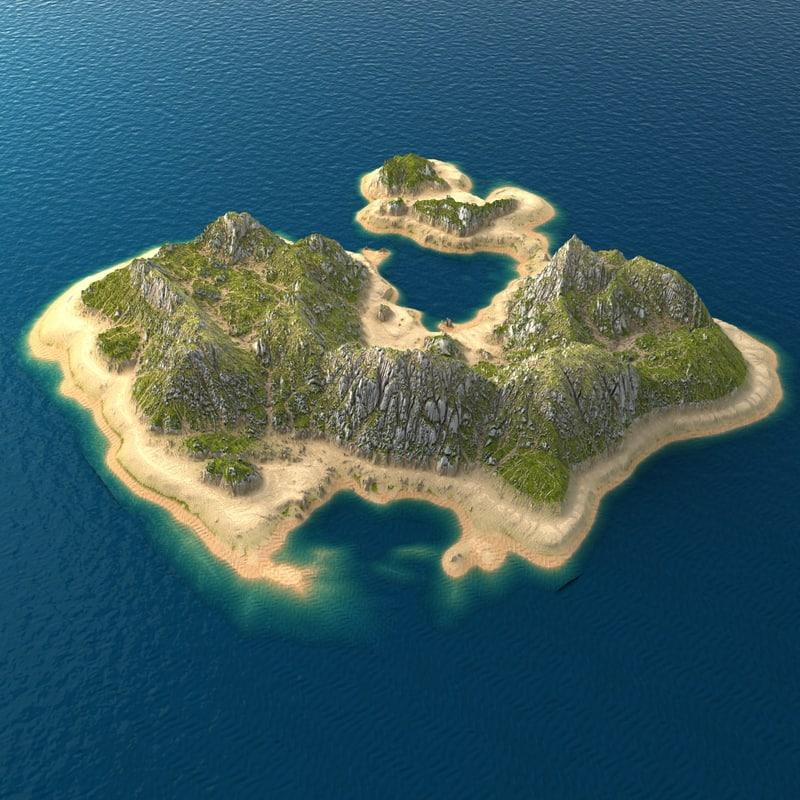tropical island terrain 8 max
