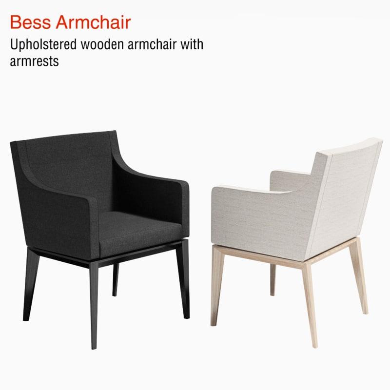 3d armchair bess chair